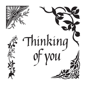 Claritystamps - Leafy Corners & Thinking of you Stamp Set