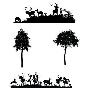 Claritystamps - Meadowdance & Deerscape Stamp Set