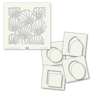 Claritystamps - Chinese Lanterns & Shapes Stencil Set