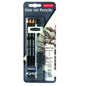 Derwent Sketching Pencil: Mixed Media Blister, 6-Piece Set