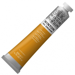 Winsor & Newton Winton Oil Color Paints: Price Series 1, Raw Sienna, 200ml Tubes