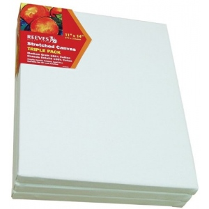 "Reeves™ Stretched Canvas Triple Pack 12"" x 16"": Sheet, 12"" x 16"", 5/8"", Stretched, (model 8330221), price per pack"