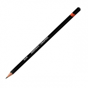 Derwent Graphic Pencil 2B Soft: Black/Gray, 2B, Drawing, (model 34174), price per each