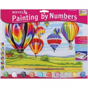 "Reeves™ Large Acrylic Painting By Numbers Set Hot Air Balloon: 12"" x 15 1/2"", (model PL70), price per each"