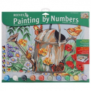 "Reeves™ Large Acrylic Painting By Numbers Set Watering Can: 12"" x 15 1/2"", (model PL71), price per each"
