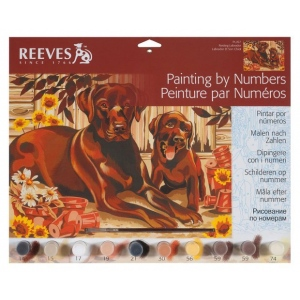 "Reeves™ Large Acrylic Painting By Numbers Set Resting Labrador: 12"" x 15 1/2"", (model PL67), price per each"