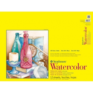 "Strathmore 300 Series Watercolor Pad: Wire Bound, 18"" x 24"", 12 Sheets"