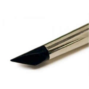 Colour Shaper Silicone Brushes: Black Tip - Clay Shapers for Firm Materials, Angle Chisel, Size 10