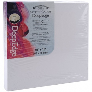 "Winsor & Newton Artists' Deep Edge Stretched Cotton Canvas: 10"" x 10"""