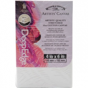"""Winsor & Newton™ Artists' Stretched Canvas Deep Edge Cotton 4"""" x 6"""": 4"""" x 6"""", 1 1/2"""", Stretched, (model 6015107), price per each"""