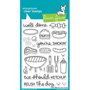 Lawn Fawn - Let's BBQ Stamp Set