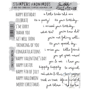 Stampers Anonymous - Tim Holtz - Crazy Talk Stamp Set