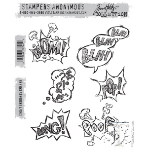 Stampers Anonymous - Tim Holtz - Crazy Thoughts Stamp Set