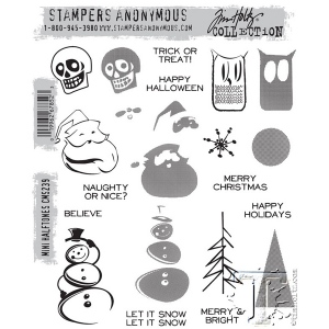 Stampers Anonymous - Tim Holtz - Mini Halftones Stamp Set