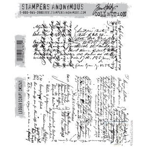 Stampers Anonymous - Tim Holtz - Ledger Script Stamp Set