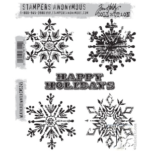 Stampers Anonymous - Tim Holtz - Weathered Winter Stamp Set