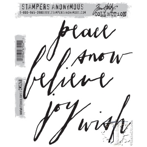 Stampers Anonymous - Tim Holtz - Handwritten Holidays #3 Stamp Set