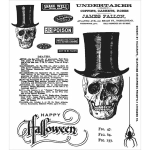 Stampers Anonymous - Tim Holtz - Undertaker Stamp Set