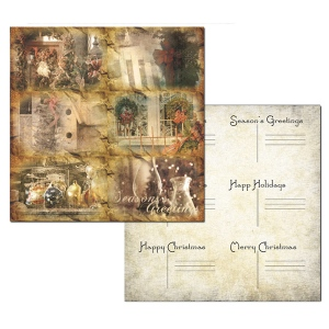 Ken Oliver - Hometown Christmas - Christmas Greetings 12x12 Paper