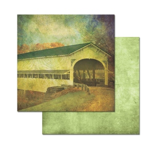 Ken Oliver - Covered Bridges - Hickory Creek 12x12 Paper