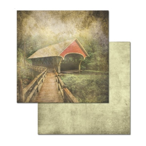 Ken Oliver - Covered Bridges - Cedar Grove 12x12 Paper