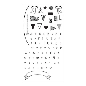 Sizzix - Clear Stamps - Banners & Alphabet by Rachael Bright