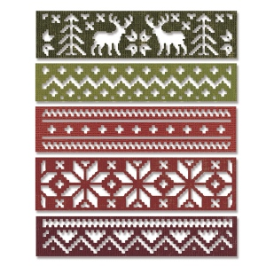 Sizzix - Thinlits Die Set 5PK - Holiday Knit by Tim Holtz
