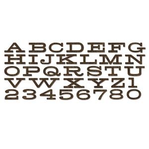 Sizzix - Bigz XL Alphabet Die - Billboard by Tim Holtz