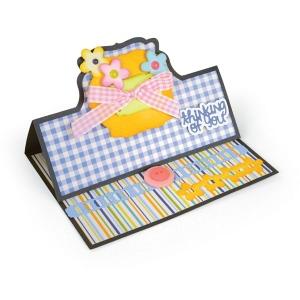 Sizzix - Framelits Die Set 22PK - Card - Bubbly Stand-Ups by Stephanie Barnard