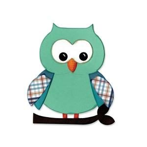 Sizzix - Bigz Die - Owl #5 by Lori Whitlock