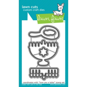 Lawn Fawn - Lawn Cuts - Love You a Latke Dies
