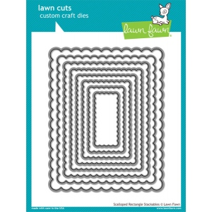 Lawn Fawn - Lawn Cuts - Scalloped Rectangle Stackables Dies