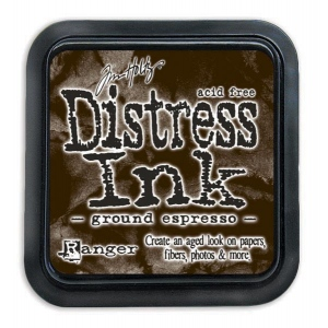 Tim Holtz - Distress - August Color Of The Month - Ground Espresso - Distress Ink Pad