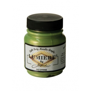 Lumiere® Pigmented Acrylic Paint Citrine; Color: Green; Format: Jar; Size: 2.25 oz; Type: Acrylic; (model J542), price per each