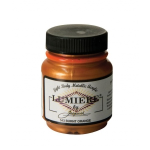 Lumiere and neopaque pigmented acrylic paint lumiere Light burnt orange paint