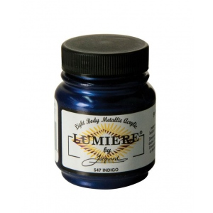 Lumiere® Pigmented Acrylic Paint Indigo; Color: Blue; Format: Jar; Size: 2.25 oz; Type: Acrylic; (model J547), price per each