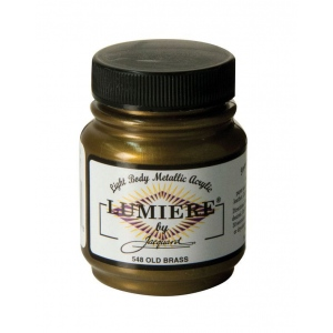 Lumiere® Pigmented Acrylic Paint Old Brass; Color: Brown; Format: Jar; Size: 2.25 oz; Type: Acrylic; (model J548), price per each