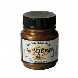 Lumiere® Pigmented Acrylic Paint Metallic Rust: Metallic, Jar, 2.25 oz, Acrylic, (model J549), price per each