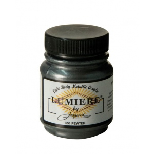Lumiere® Pigmented Acrylic Paint Pewter; Color: Black/Gray; Format: Jar; Size: 2.25 oz; Type: Acrylic; (model J551), price per each
