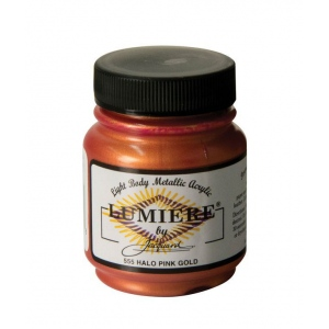 Lumiere® Pigmented Acrylic Paint Halo Pink Gold; Color: Red/Pink; Format: Jar; Size: 2.25 oz; Type: Acrylic; (model J555), price per each