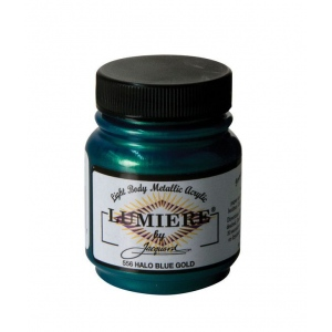 Lumiere® Pigmented Acrylic Paint Halo Blue Gold; Color: Blue; Format: Jar; Size: 2.25 oz; Type: Acrylic; (model J556), price per each