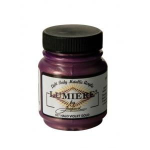 Lumiere® Pigmented Acrylic Paint Halo Violet Gold; Color: Purple; Format: Jar; Size: 2.25 oz; Type: Acrylic; (model J557), price per each