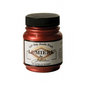 Lumiere® Pigmented Acrylic Paint Metallic Russet: Red/Pink, Jar, 2.25 oz, Acrylic, (model J566), price per each