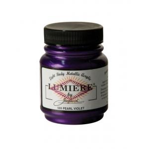 Lumiere® Pigmented Acrylic Paint Pearl Violet; Color: Purple; Format: Jar; Size: 2.25 oz; Type: Acrylic; (model J569), price per each