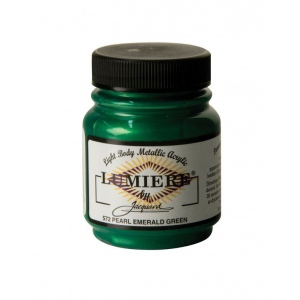 Lumiere® Pigmented Acrylic Paint Pearl Emerald Green: Green, Jar, 2.25 oz, Acrylic, (model J572), price per each