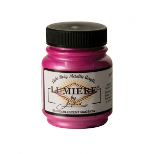 Lumiere® Pigmented Acrylic Paint Pearl Magenta; Color: Red/Pink; Format: Jar; Size: 2.25 oz; Type: Acrylic; (model J573), price per each