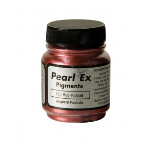 Pearl Ex Powdered Pigment Red-russet: Metallic, Red/Pink, Jar, .75 oz, (model J653), price per each
