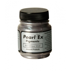 Pearl Ex Powdered Pigment Antique Silver; Color: Metallic; Format: Jar; Size: .75 oz; (model J662), price per each