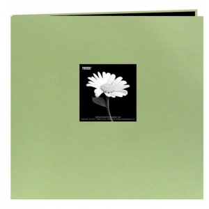 "Pioneer® 12"" x 12"" Fabric Frame Scrapbook Sage Green; Color: Green; Material: Fabric; Page Count: 10 Page Protectors; Size: 12"" x 12""; (model MB10CBF-SG), price per each"