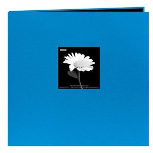 "Pioneer® 12 x 12 Fabric Frame Scrapbook Sky Blue; Color: Blue; Material: Fabric; Page Count: 10 Page Protectors; Size: 12"" x 12""; (model MB10CBF-SB), price per each"
